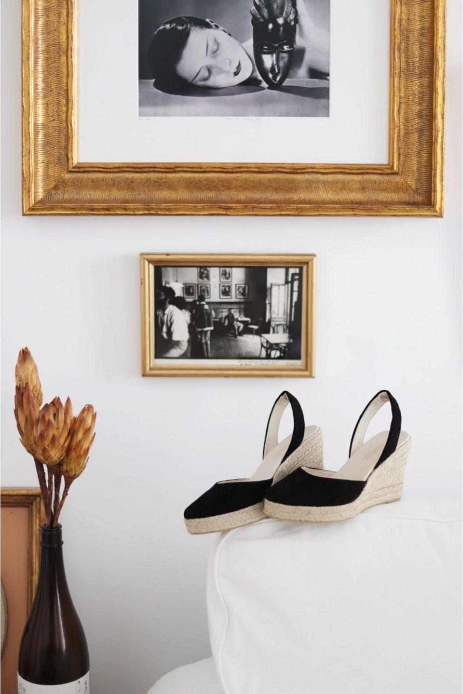 MENORCA NEGRO Alpargatas en Loyna Shoes