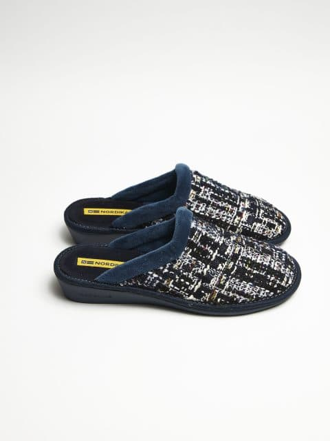 ZUECO TRICOT MARINO Nordikas en Loyna Shoes