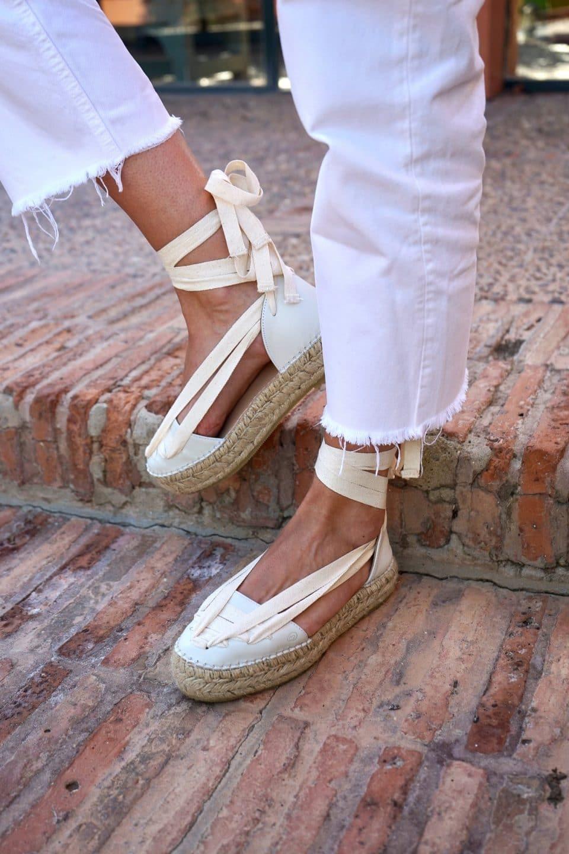 RODAS PIEL HIELO Alpargatas en Loyna Shoes