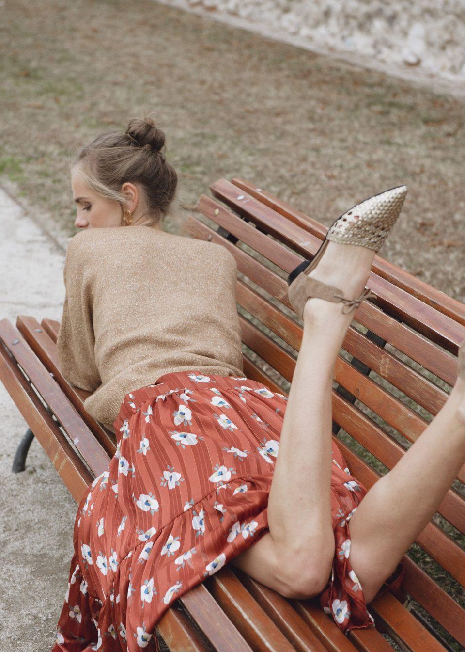 MADEIRA TRENZADA ORO Marcas en Loyna Shoes
