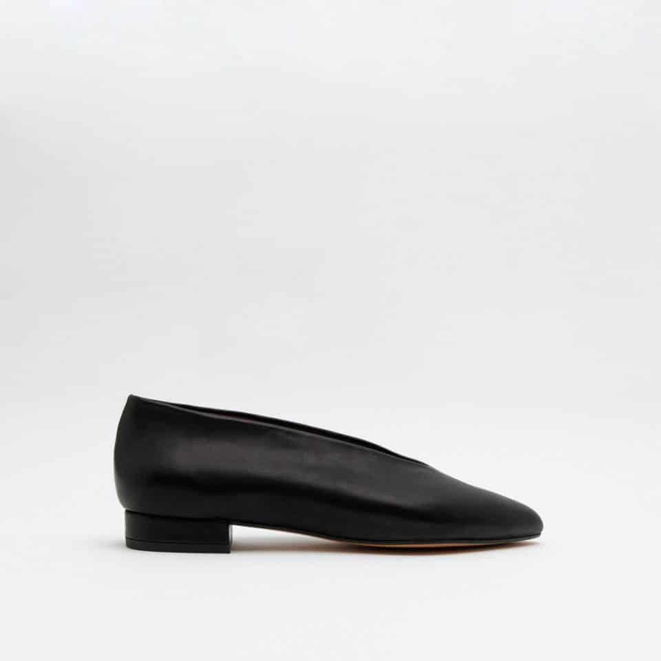 Ramona Negro Bailarinas en Loyna Shoes