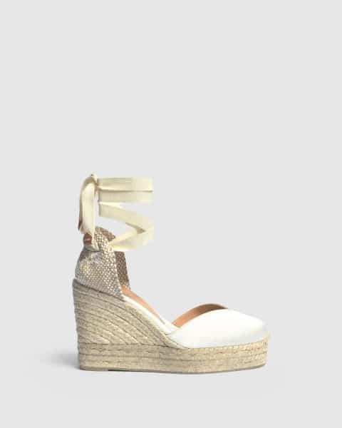 Chiara. Alpargata con cuña elaborada en raso 11cm Alpargatas en Loyna Shoes