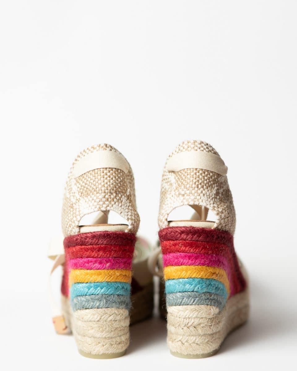 Castañer by Paul Smith. Alpargata con cuña elaborada en lona 10cm Castañer x Paul Smith en Loyna Shoes