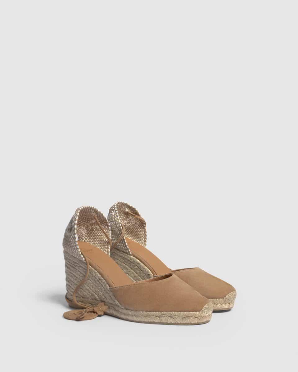Alpargata con cuña Castañer Carina Ante 7cm Alpargatas en Loyna Shoes