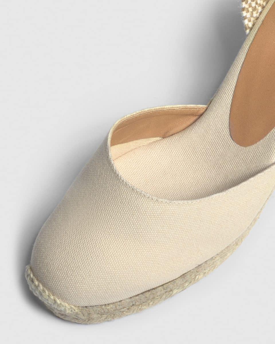 Alpargata de cuña Carina elaborada en lona 7 cm Alpargatas en Loyna Shoes