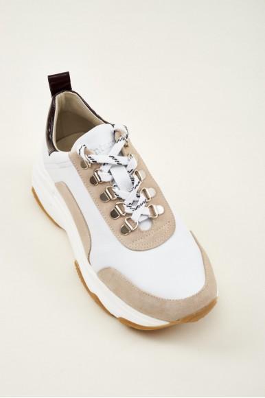 Danielle Beige Wine Mint & Rose Sneakers en Loyna Shoes