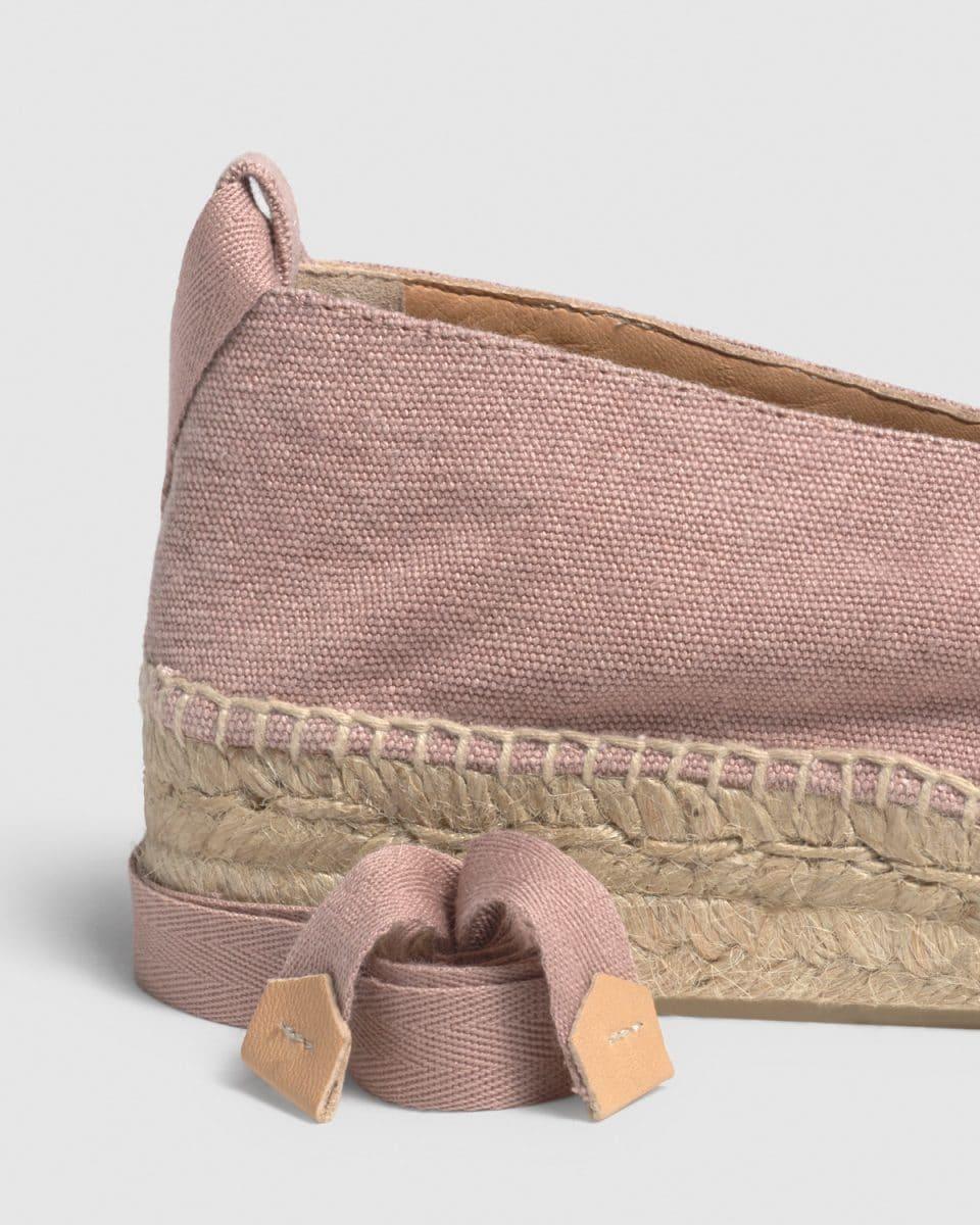 Gea. Alpargata bailarina con cuña elaborada en lona Castañer Alpargatas en Loyna Shoes