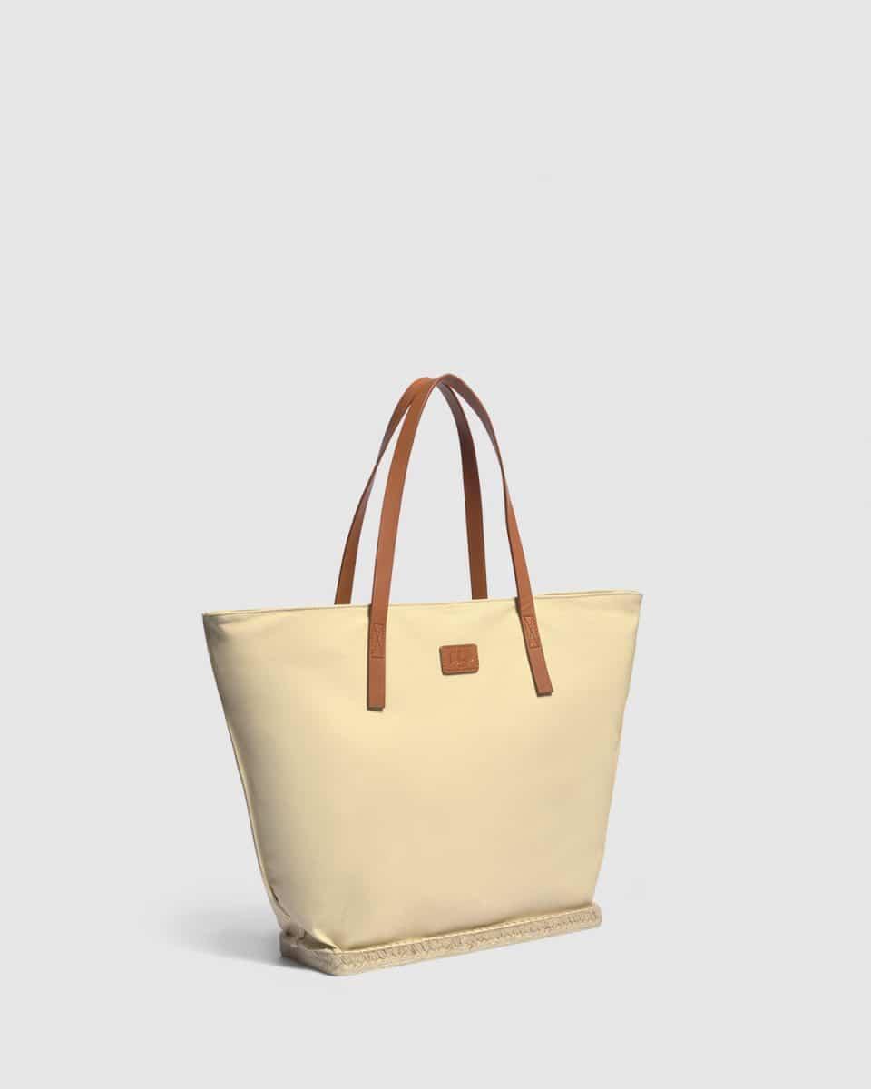 Gracia. Bolso shopper elaborado en lona Bolsos en Loyna Shoes