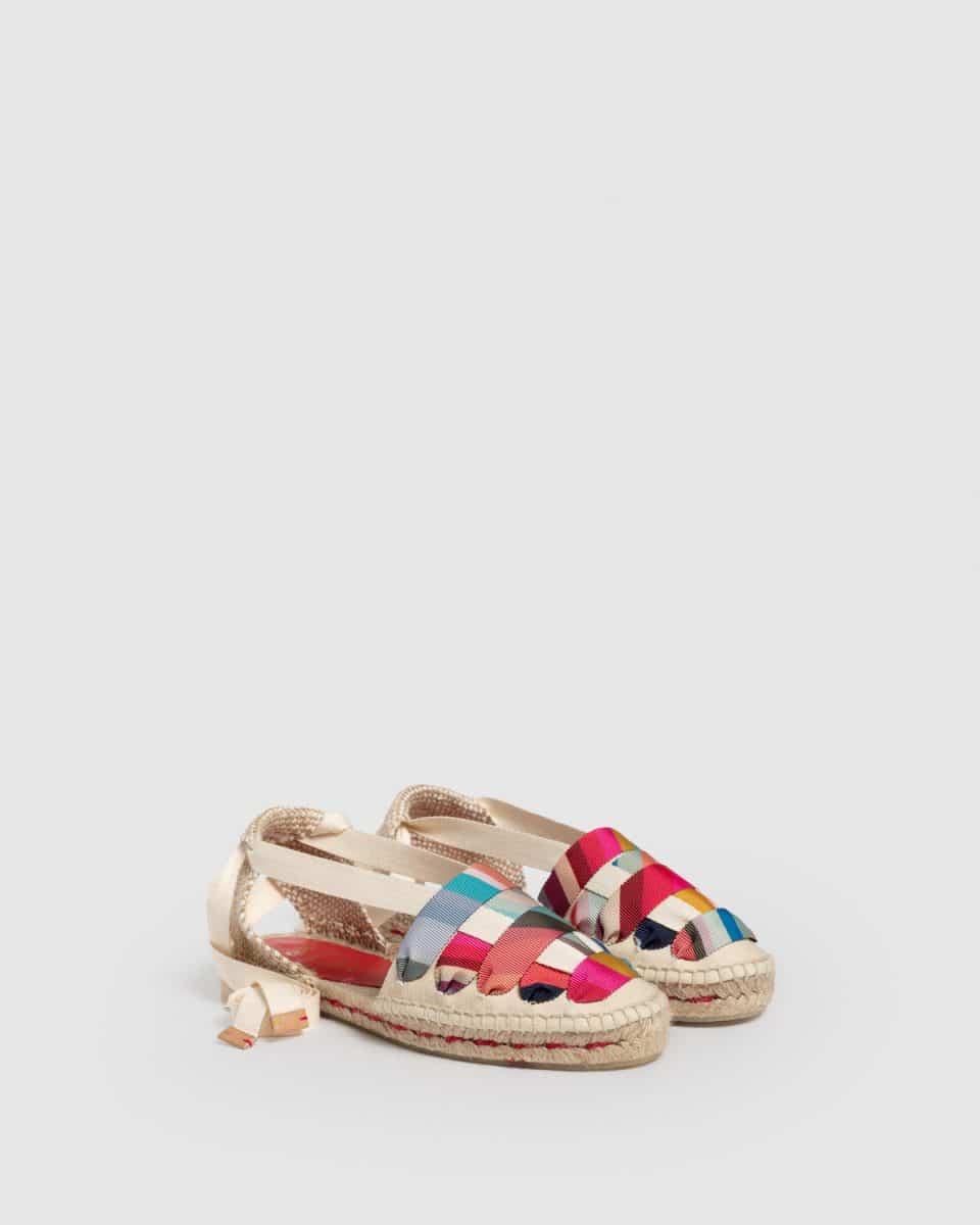 Castañer by Paul Smith. Jean Beige. Alpargata embetada elaborada en lona Castañer x Paul Smith en Loyna Shoes