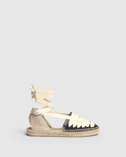 Alpargata plana Jean elaborada en lona Castañer Alpargatas en Loyna Shoes