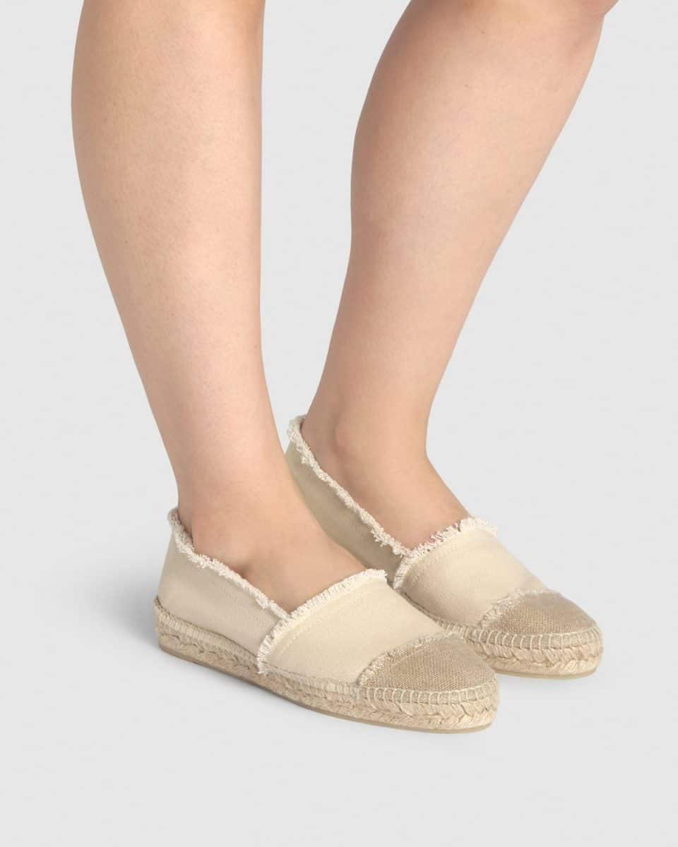 Alpargata plana Kampala elaborada en lona Alpargatas en Loyna Shoes