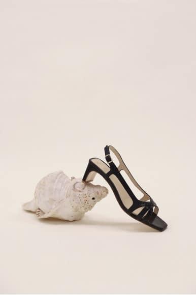 Mia Cristal Negro Mint & Rose Sandalias en Loyna Shoes