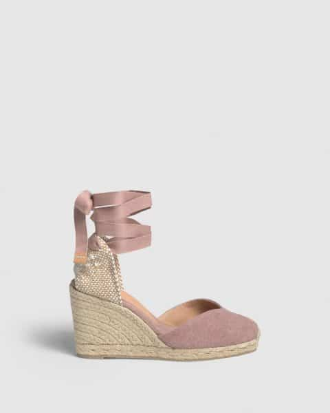 Chiara. Alpargata con cuña elaborada en lona 7cm Castañer Alpargatas en Loyna Shoes