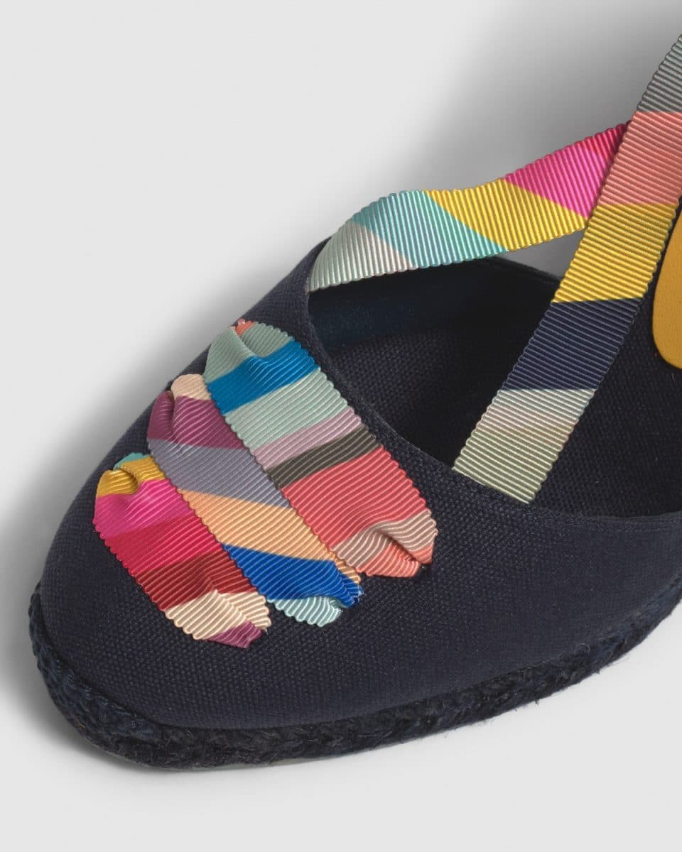 Castañer by Paul Smith. Coralia Colorblock. Alpargata con cuña elaborada en lona 9cm Castañer x Paul Smith en Loyna Shoes