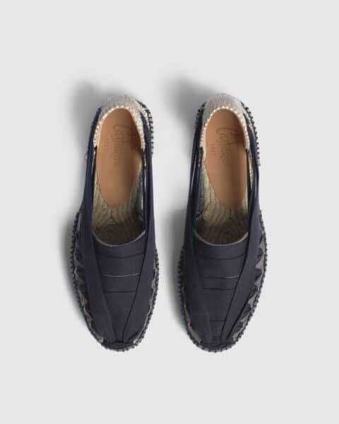 Norman. Alpargata plana elaborada en lona Alpargatas en Loyna Shoes