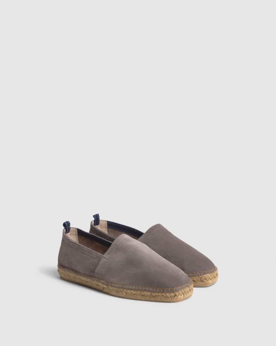 Pablo. Alpargata plana elaborada en serraje Castañer Alpargatas en Loyna Shoes