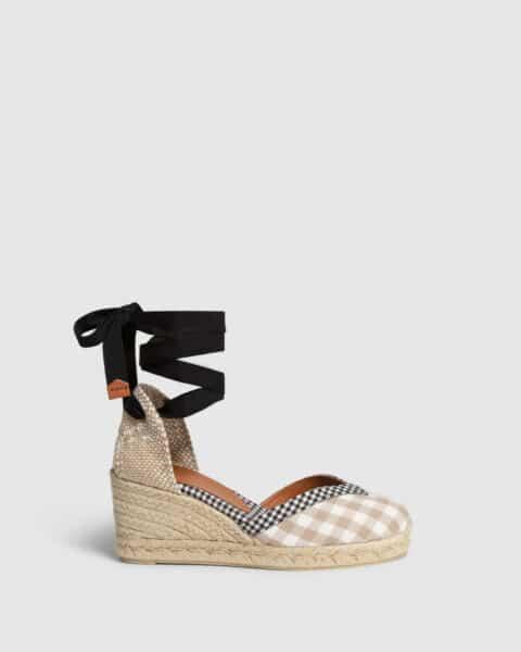 Cosmos. Alpargata con cuña elaborada en algodón 7cm Alpargatas en Loyna Shoes