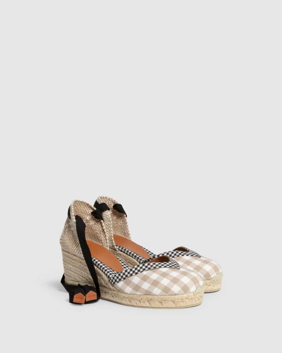 Cosmos. Alpargata con cuña elaborada en algodón 7cm Castañer Alpargatas en Loyna Shoes