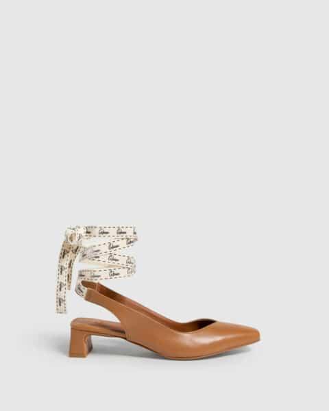 Castañer Tiziana. Zapato slingback elaborado en napa 4cm Castañer en Loyna Shoes