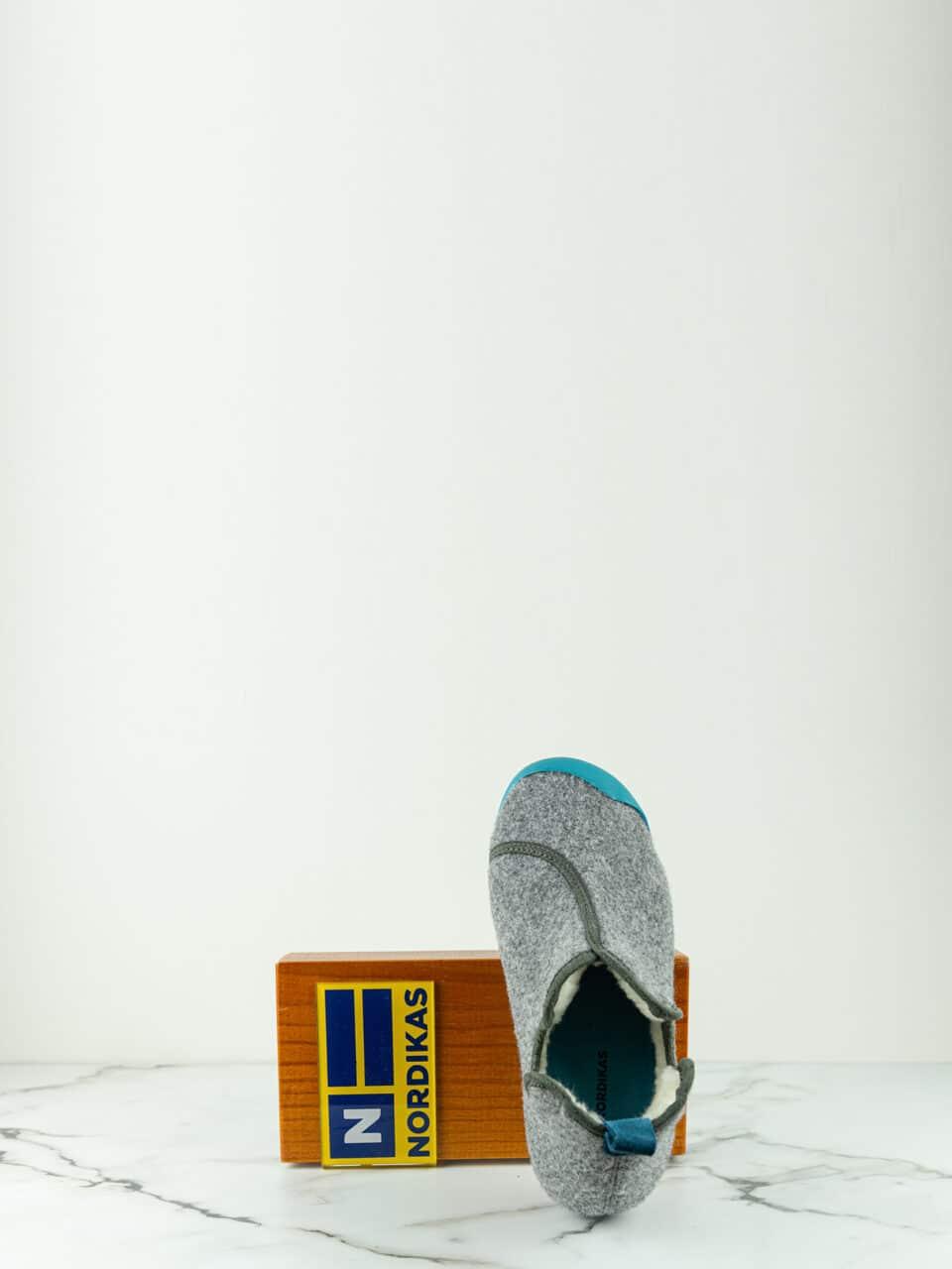 Nordikas Artik Gris -Turquesa Botín Marcas en Loyna Shoes